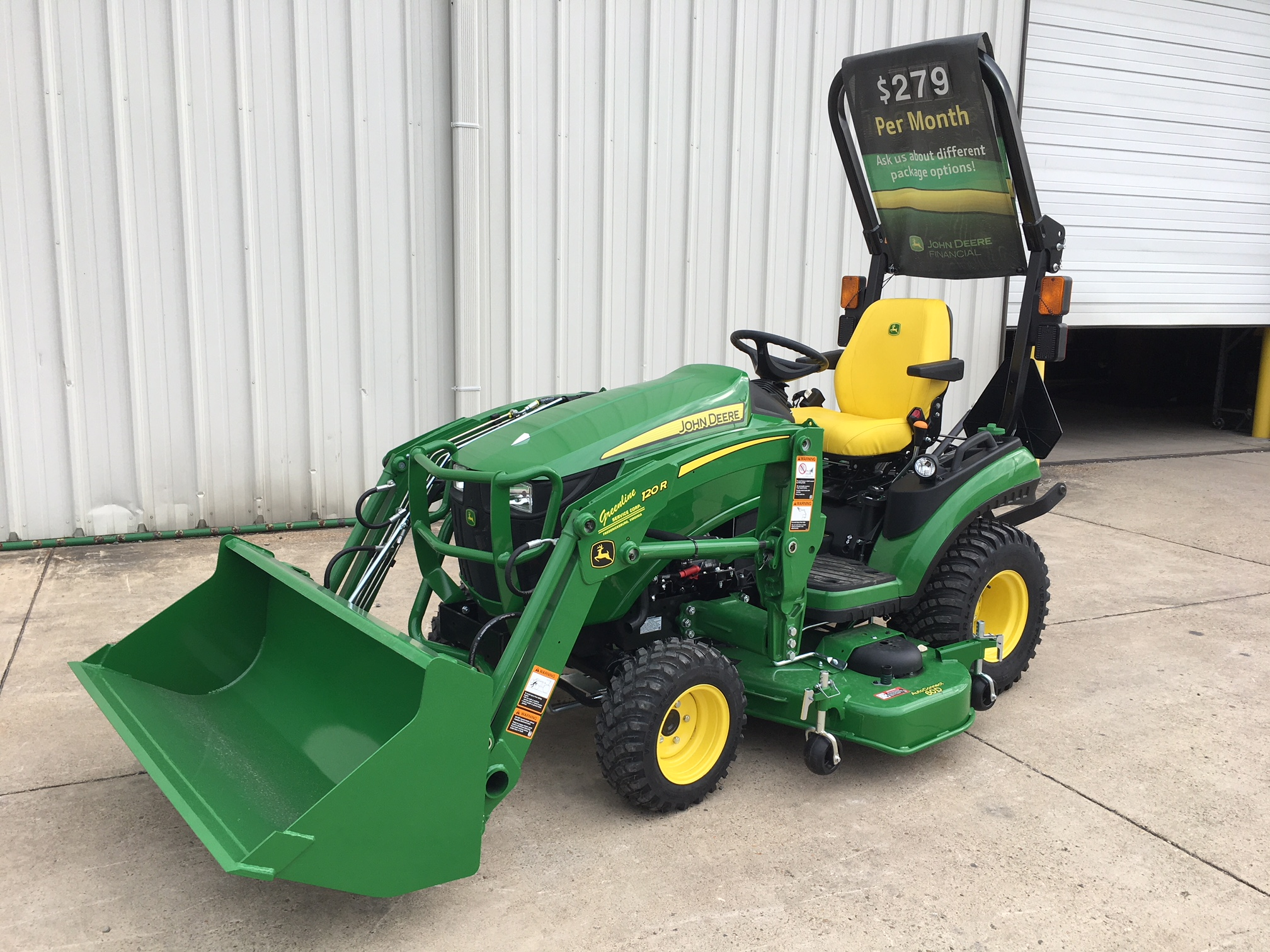 1025R Tractor Loader Mower Package